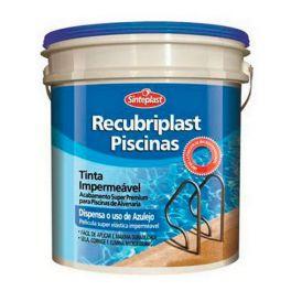 Tinta Impermeabilizante Recubriplast Piscina Azul Lata 10 Litros